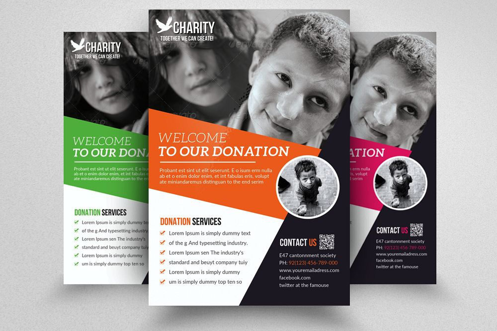 charity donation flyer templates
