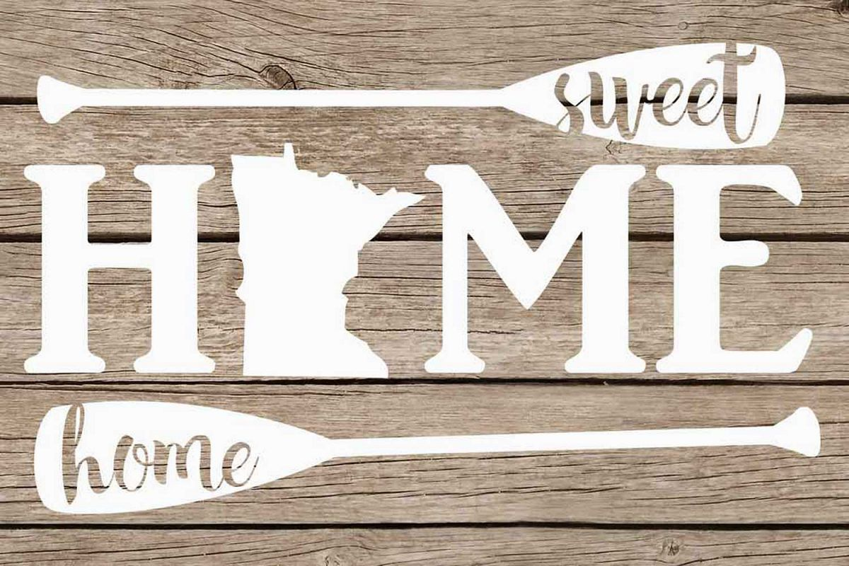 Minnesota home sweet home paddles example image 1