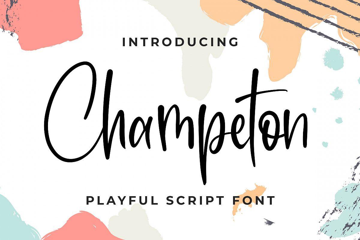 Champeton - Playful Script Font example image 1