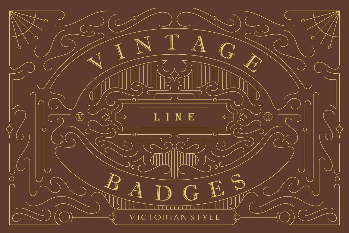 Vintage Line Badges Vol. 2 example image 1