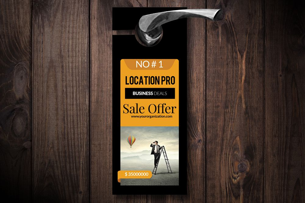Business Solution Door Hangers example image 1