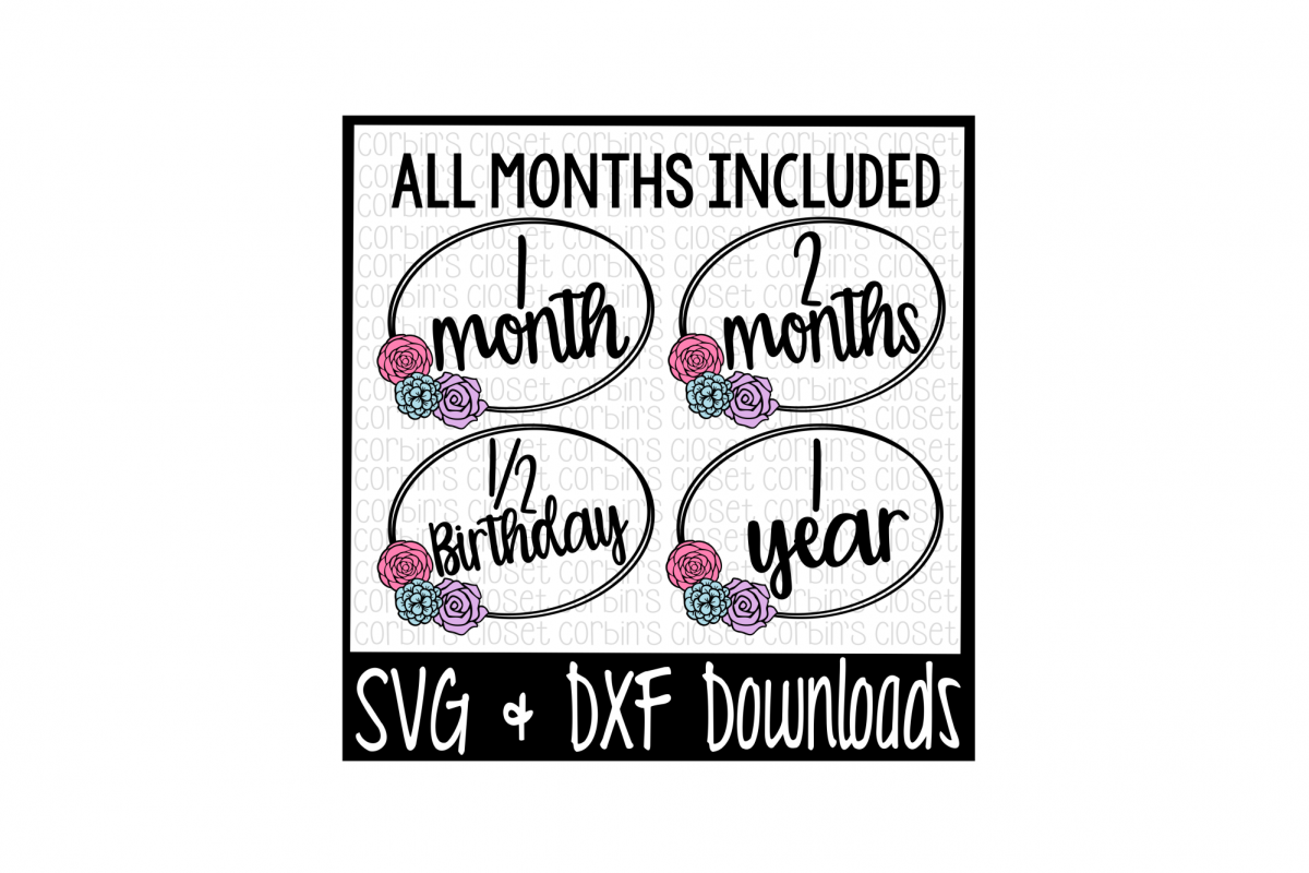 Monthly Milestone * Baby Monthly * Cut File example image 1