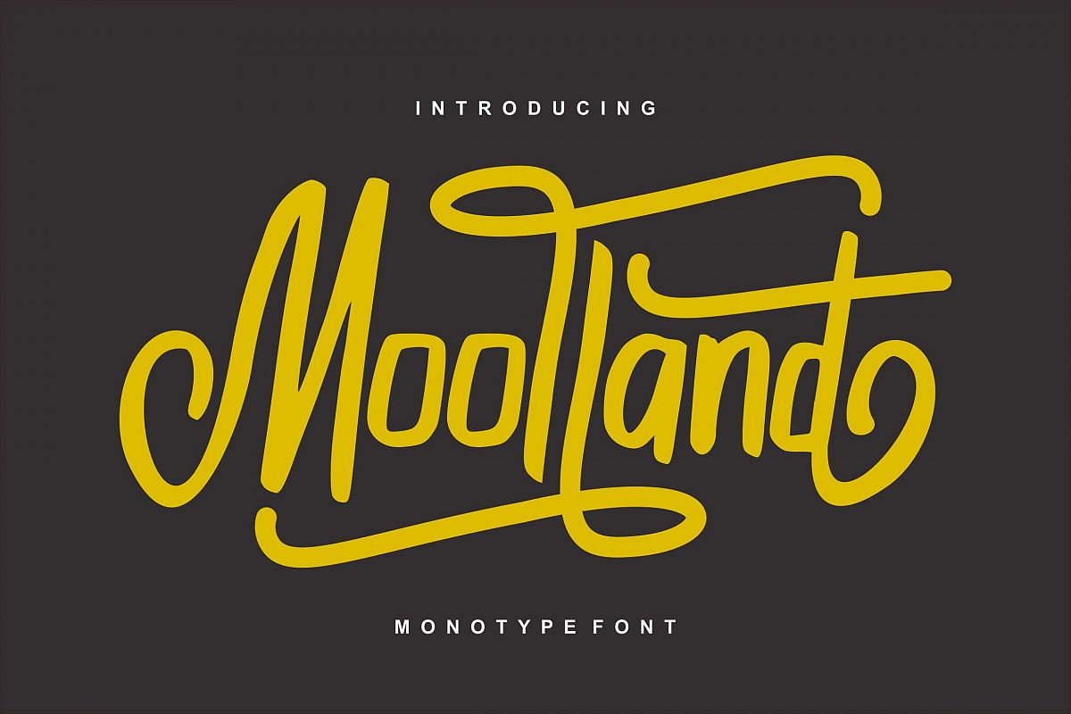Moolland | Monotype Script Font example image 1