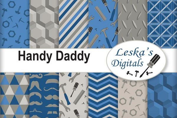 Daddy Digital Papers - Father's Day example image 1