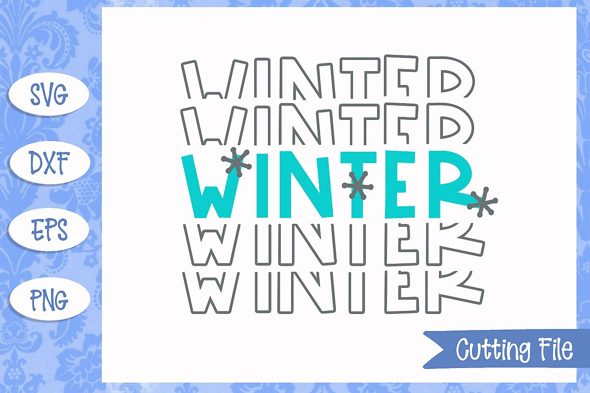 Winter Stacked SVG File example image 1