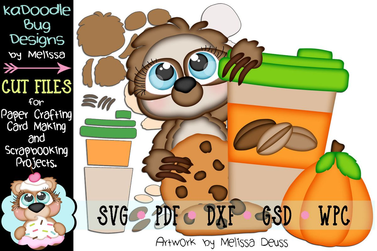 Pumpkin Spice Sloth Cut File - SVG PDF DXF GSD WPC example image 1
