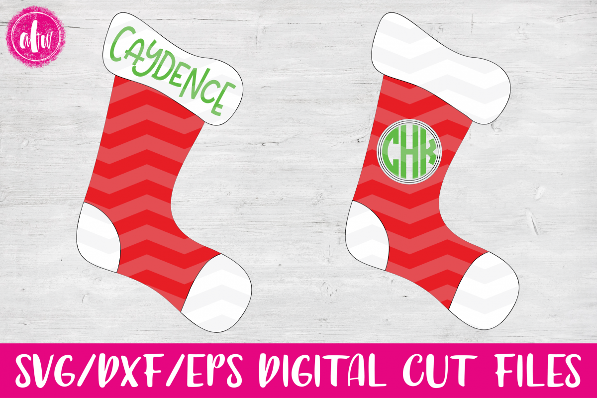 Christmas Stockings - SVG, DXF, EPS Cut File