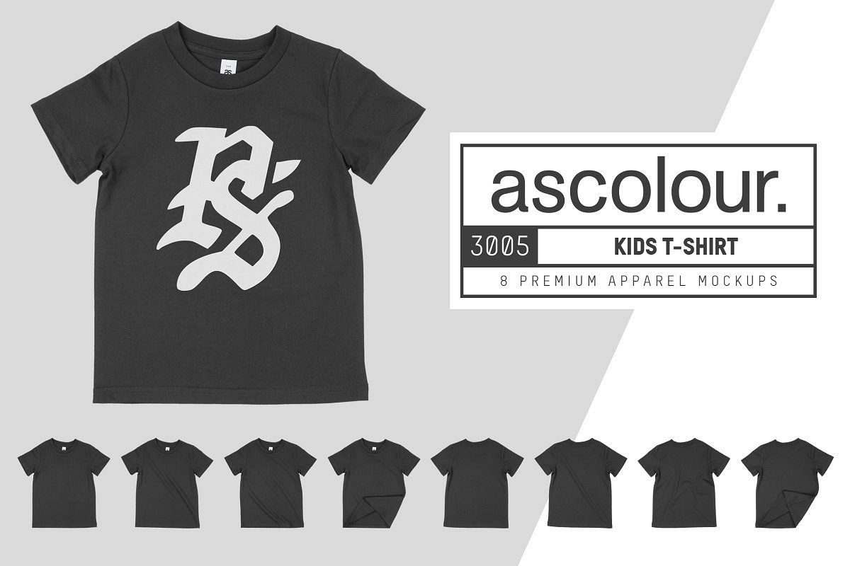 AS Colour 3005 Kid's T-Shirt Mockups example image 1