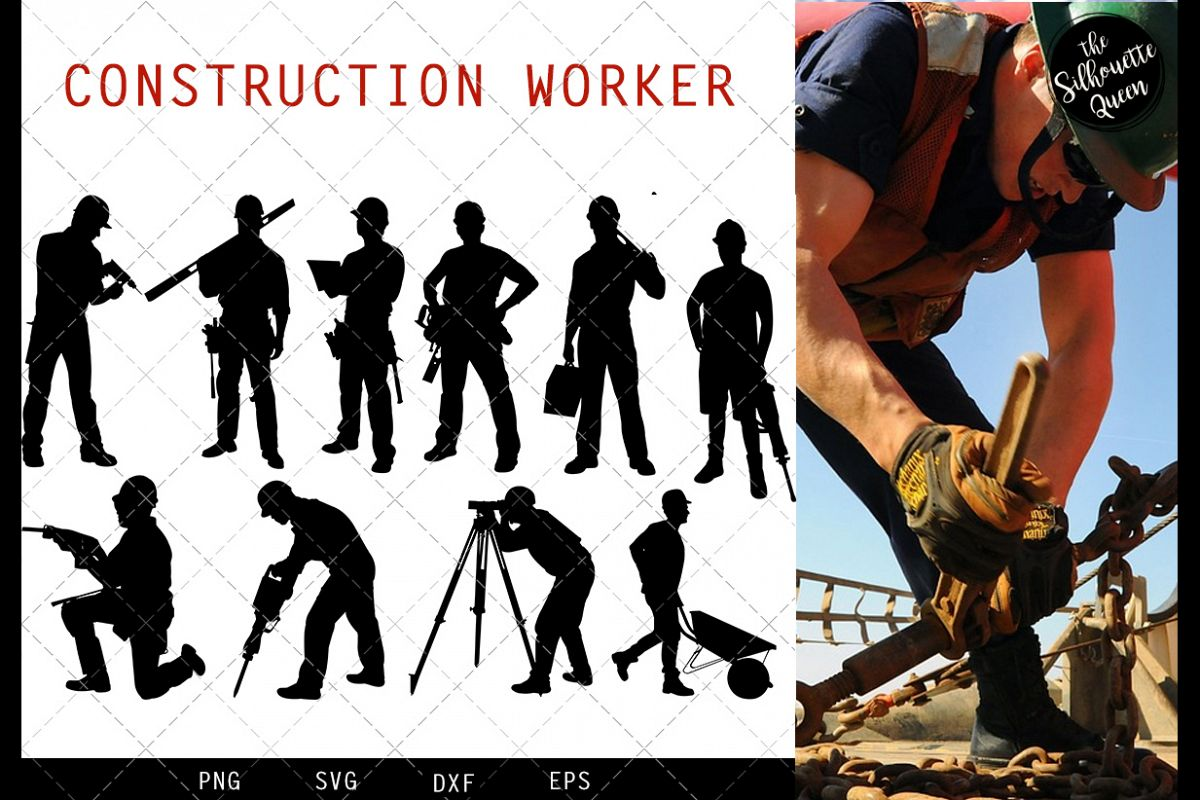 Construction Workers svg file, svg cut file example image 1