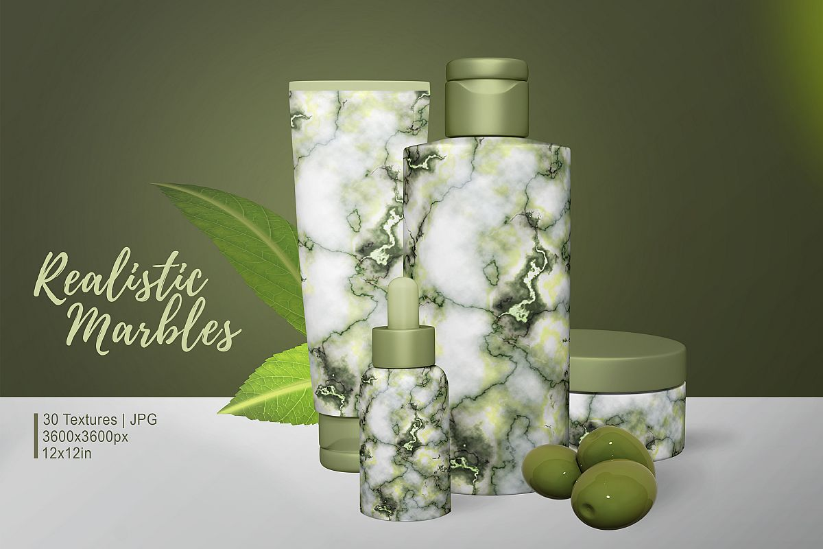 30 Realistic Marble Textures - JPG example image 1