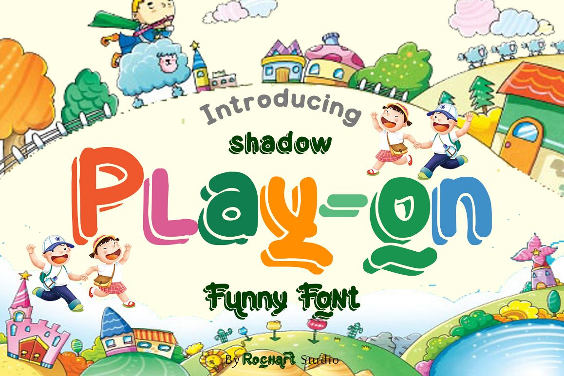 Play-on shadow font example image 1