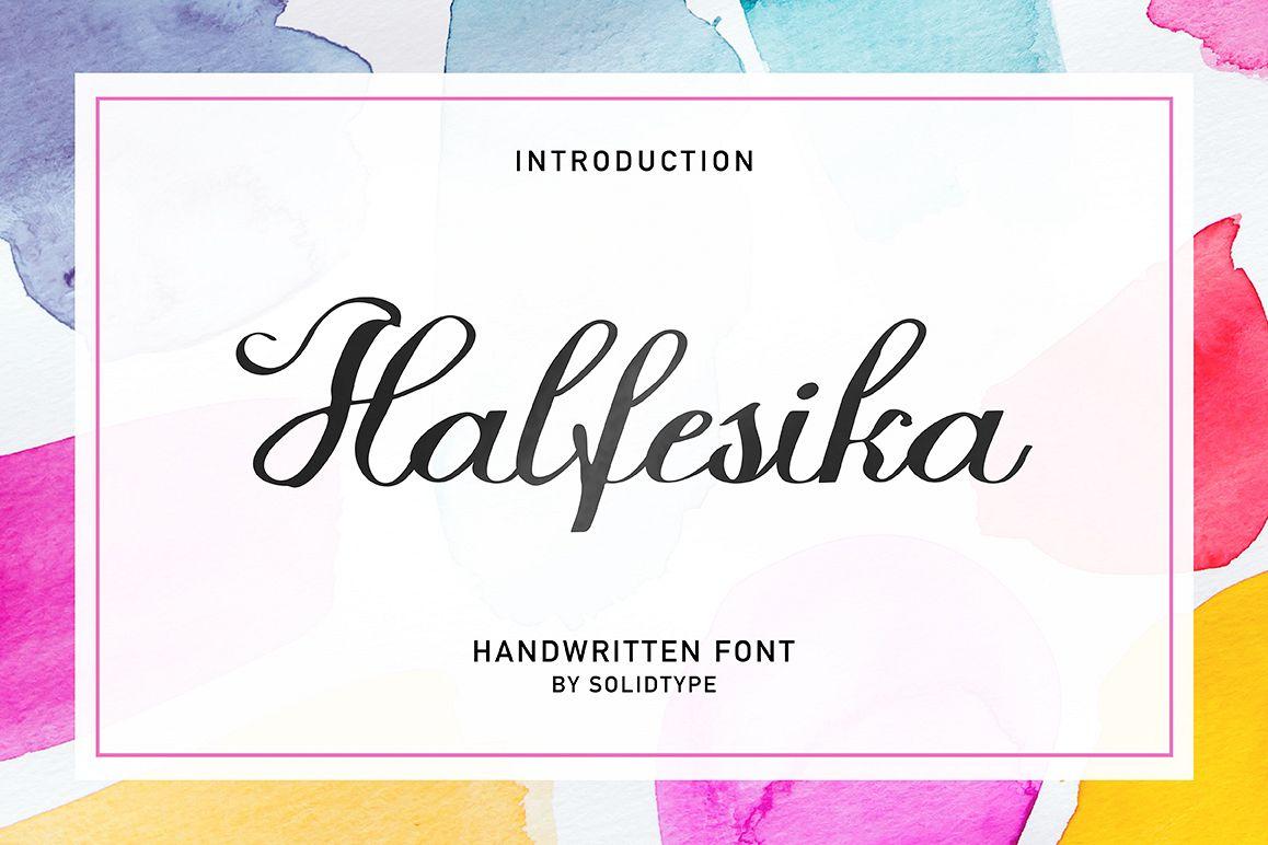 Halfesika Script example image 1