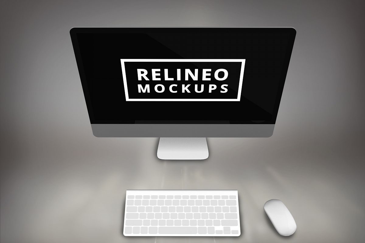 Apple iMac Mock-up #1 example image 1