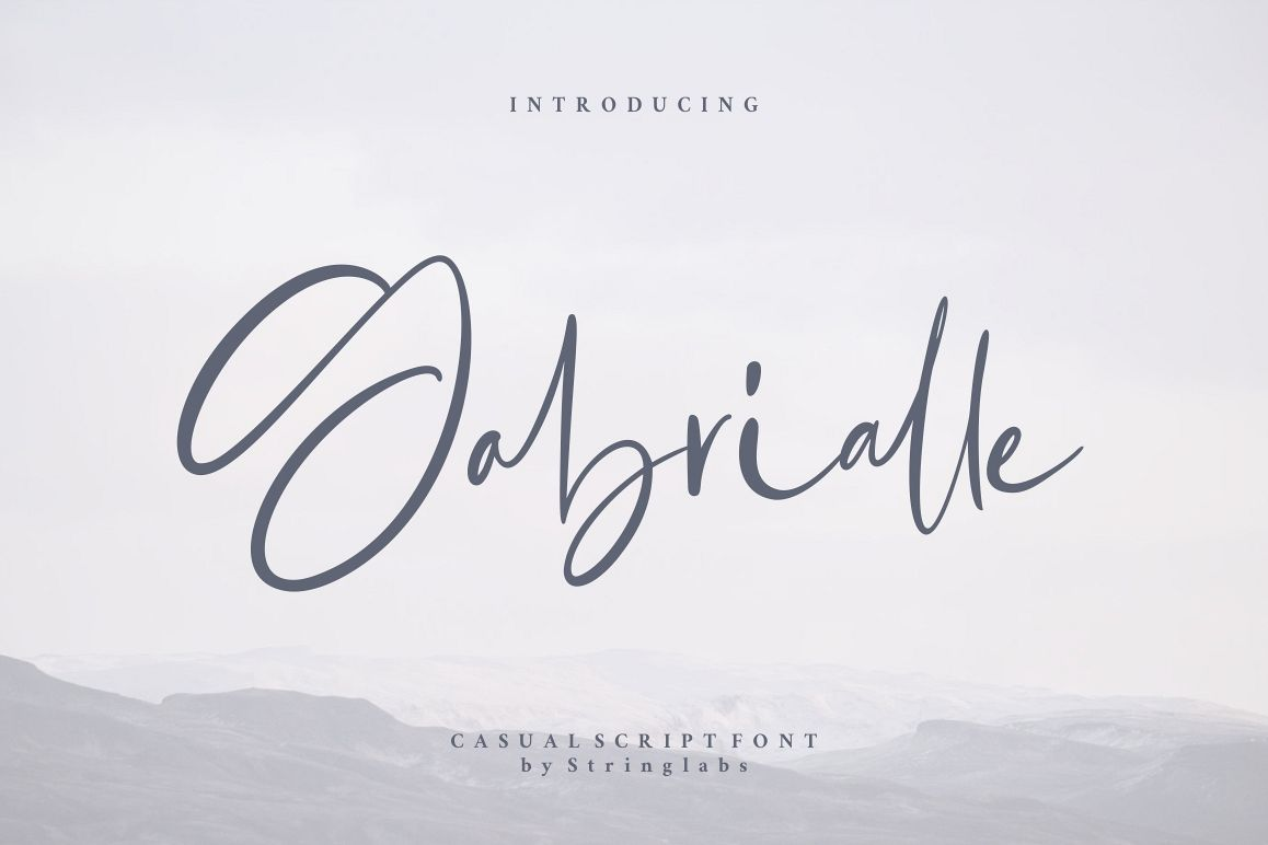 Gabrialle - Casual Script Font example image 1