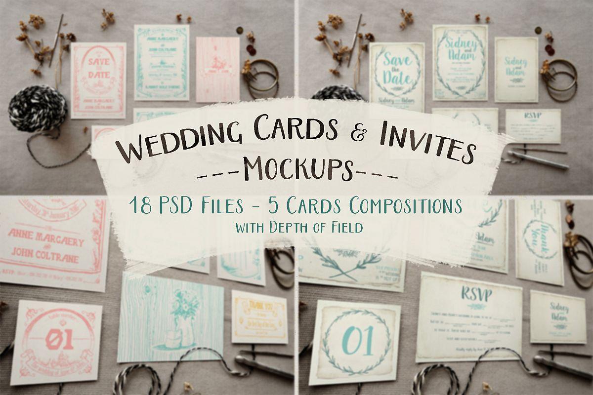 Rustic Wedding Invitation Mockup by kla | Design Bundles