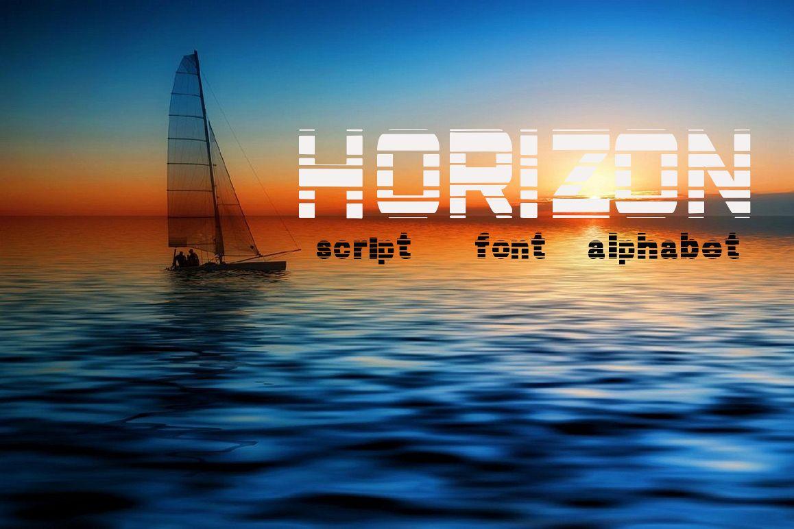 Horizon script, font example image 1