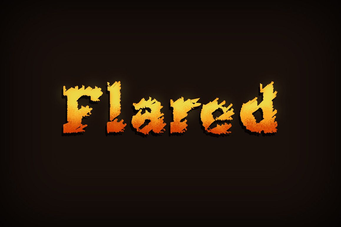 Flared Font example image 1