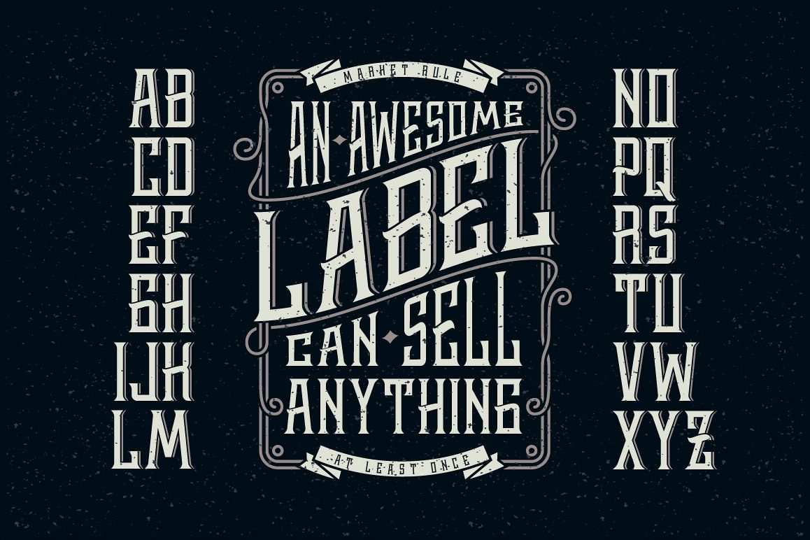 Whiskey label font + design elements example image 1