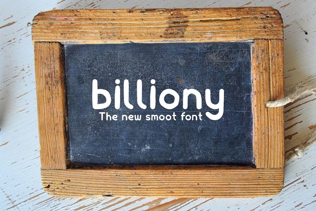 Billiony Typeface Font example image 1