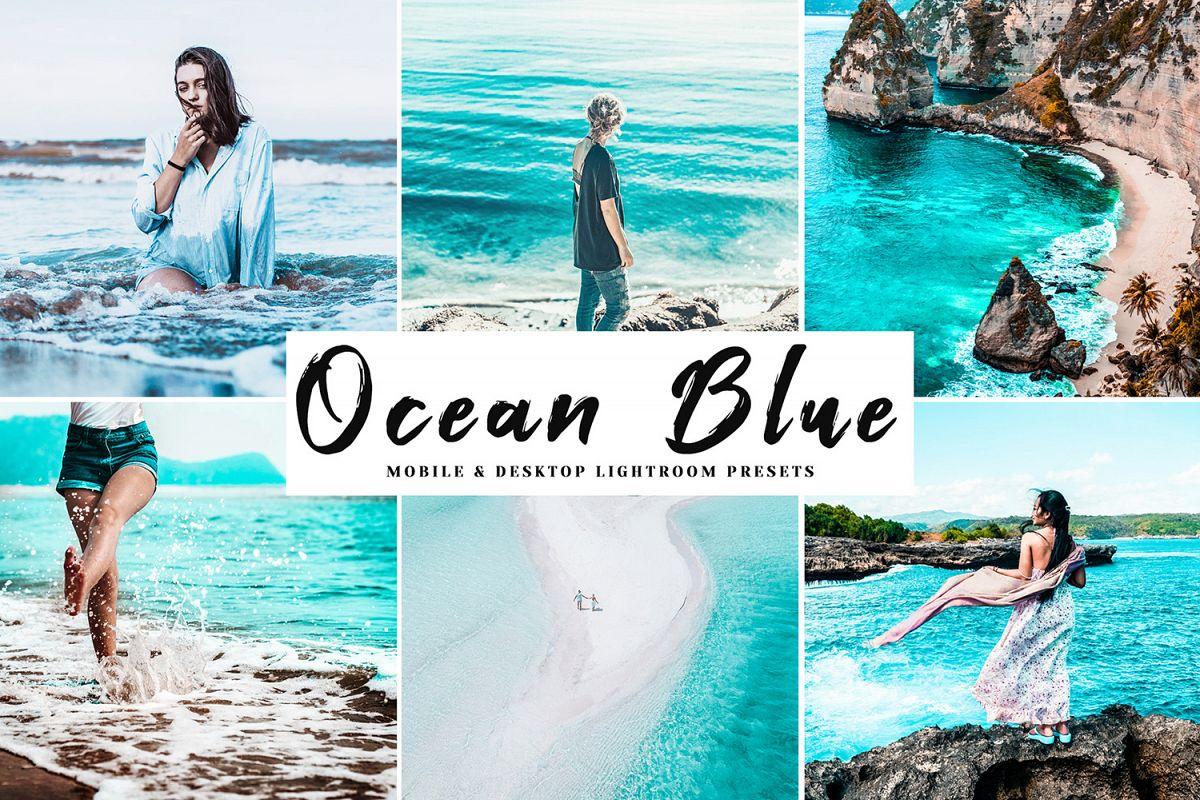 Ocean Blue Mobile & Desktop Lightroom Presets example image 1