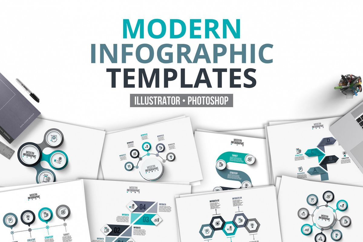 Modern infographic templates example image 1