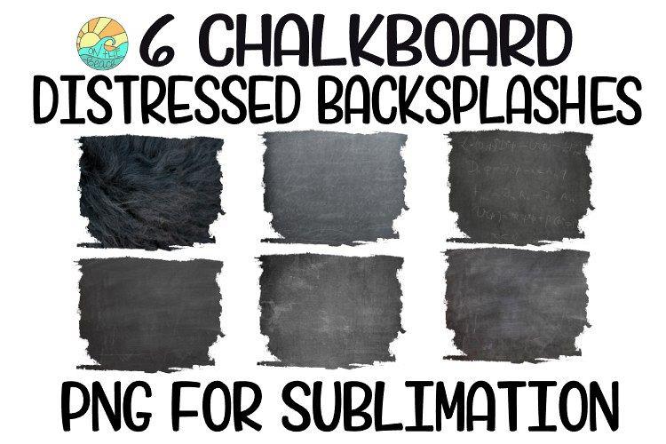 Chalkboard Sublimation Background PNG Bundle-6 Elements example image 1