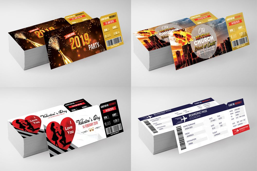 4 Party Event Tickets Bundle example image 1