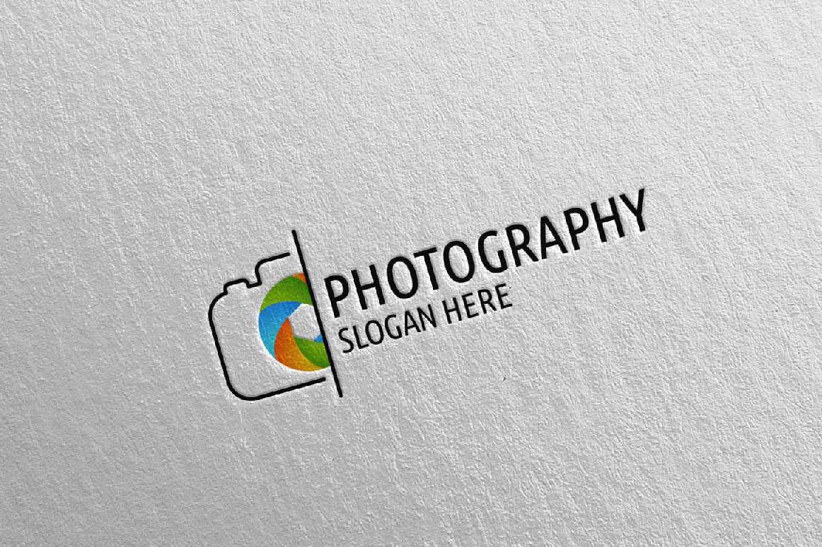 Abstract Camera Photography Logo 5 example image 1