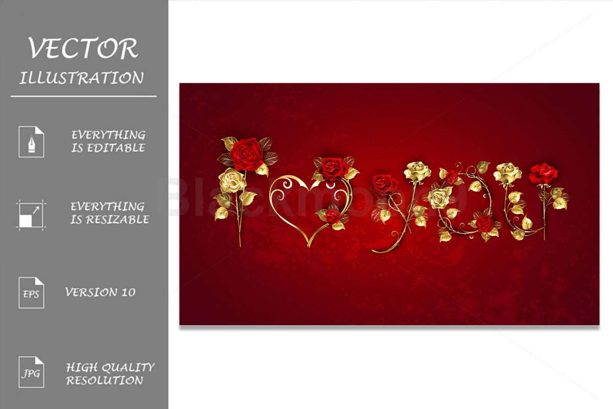 Declaration of Love from Red Roses example image 1