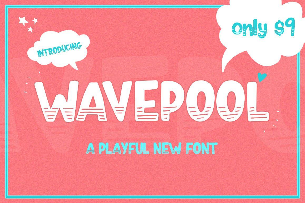 Wavepool Font example image 1