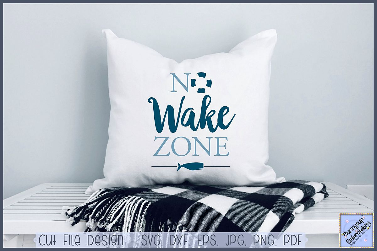 No Wake Zone - SVG, Clipart, Printable example image 1