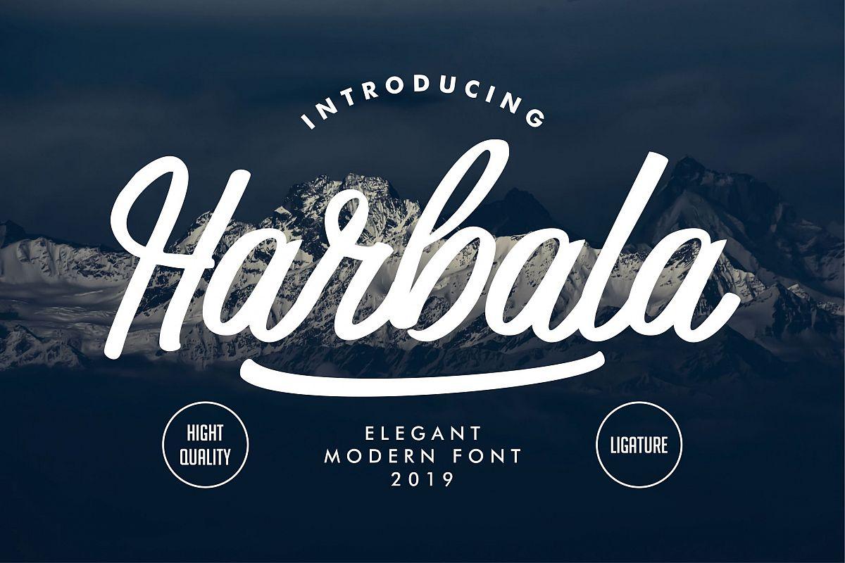 Harbala | Elegant Modern Script Font example image 1