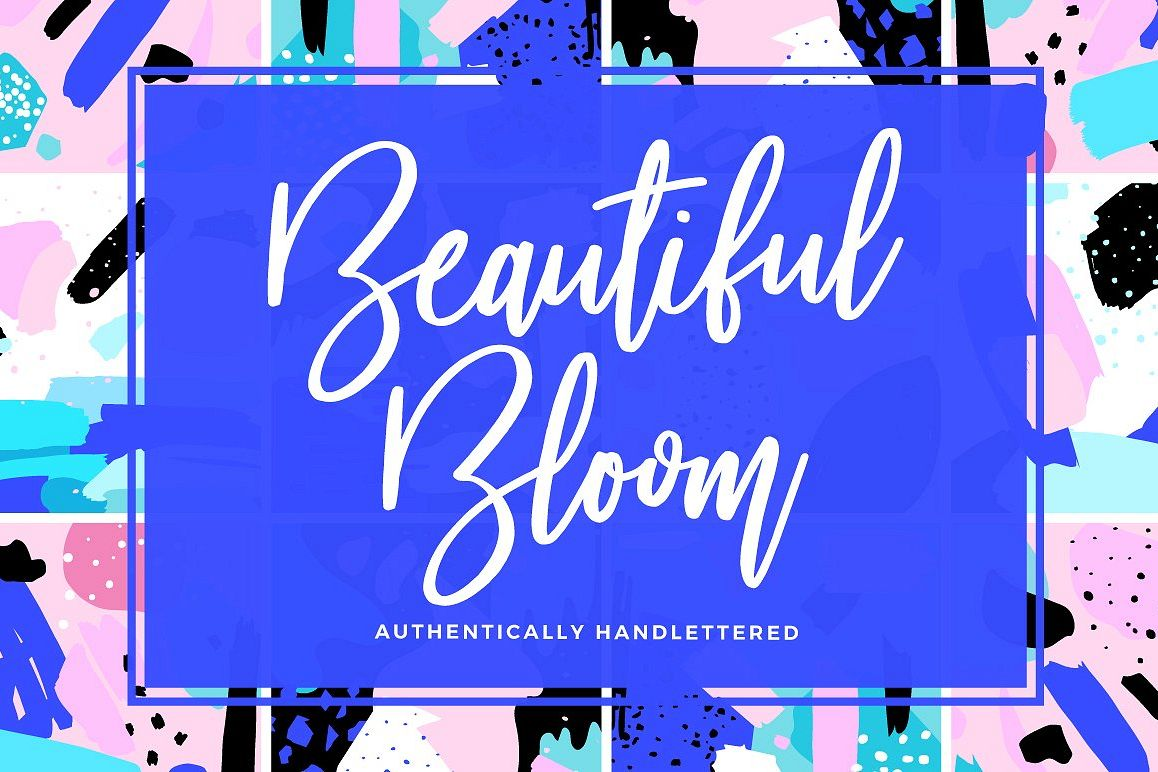 Beautiful Bloom Typeface example image 1