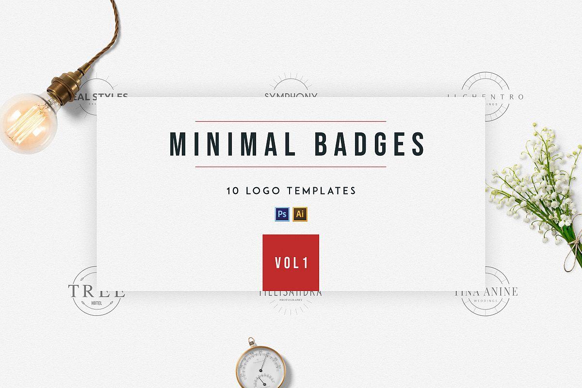 Minimal Badges | vol.1 example image 1