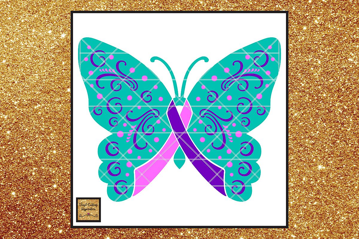 Thyroid Cancer Ribbon Thyroid Awareness Ribbon Svg Files 133900 Svgs Design Bundles