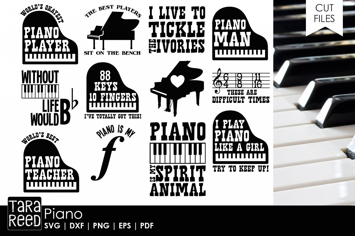 Piano SVG and Cut Files for Crafters example image 1