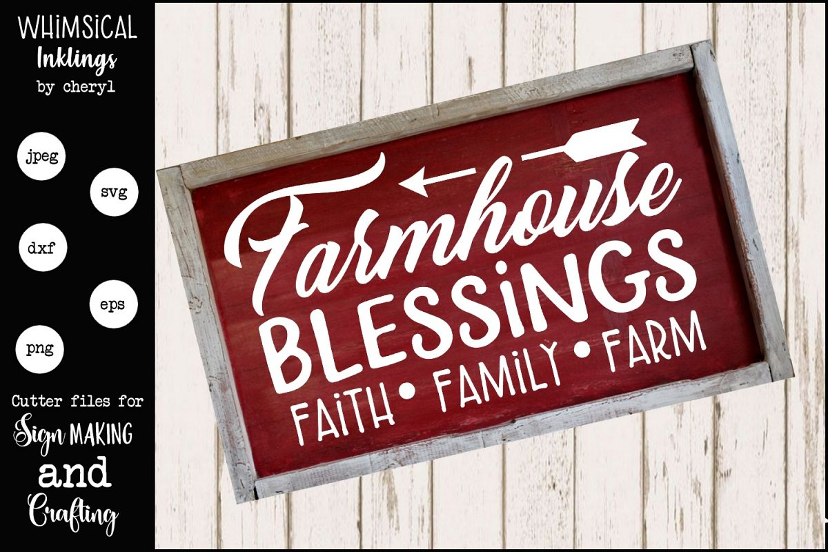 Farm House Blessings 2 SVG example image 1