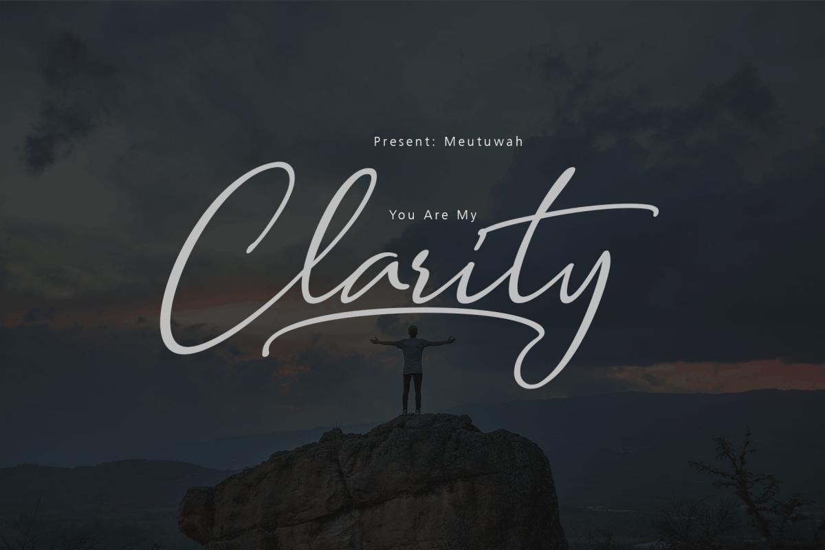 Clarity Script example image 1