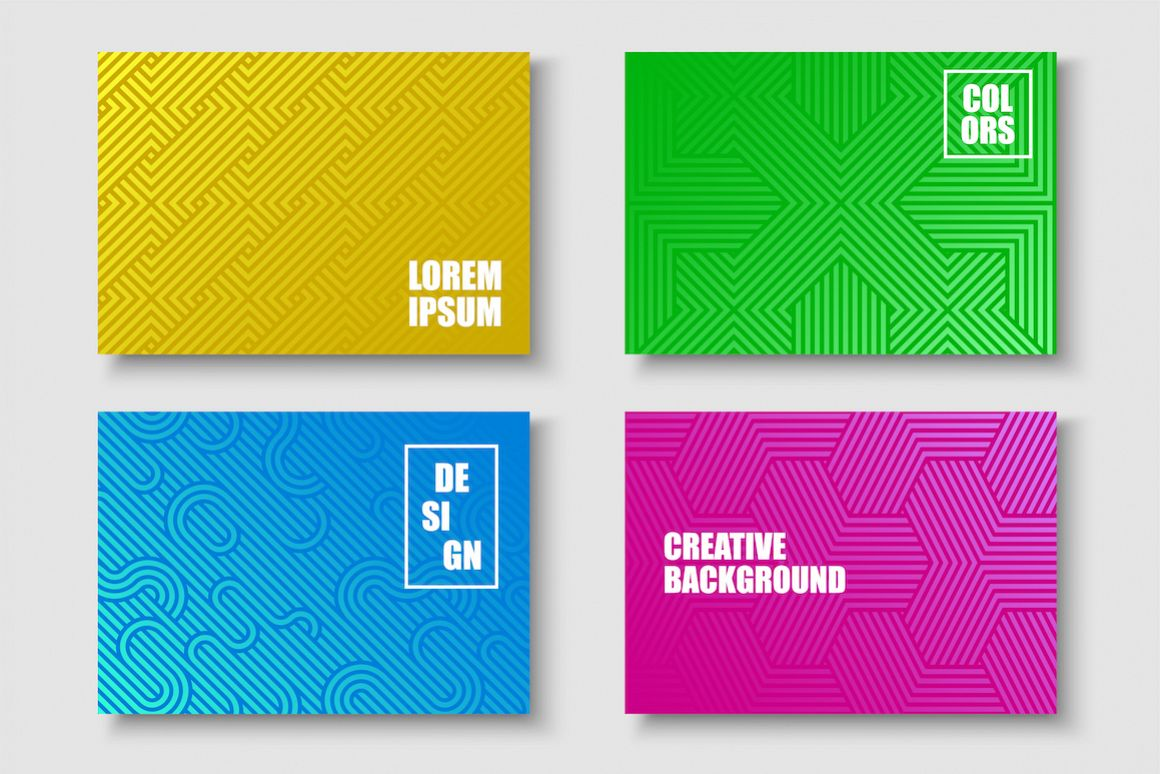 Bright colorful striped covers example image 1