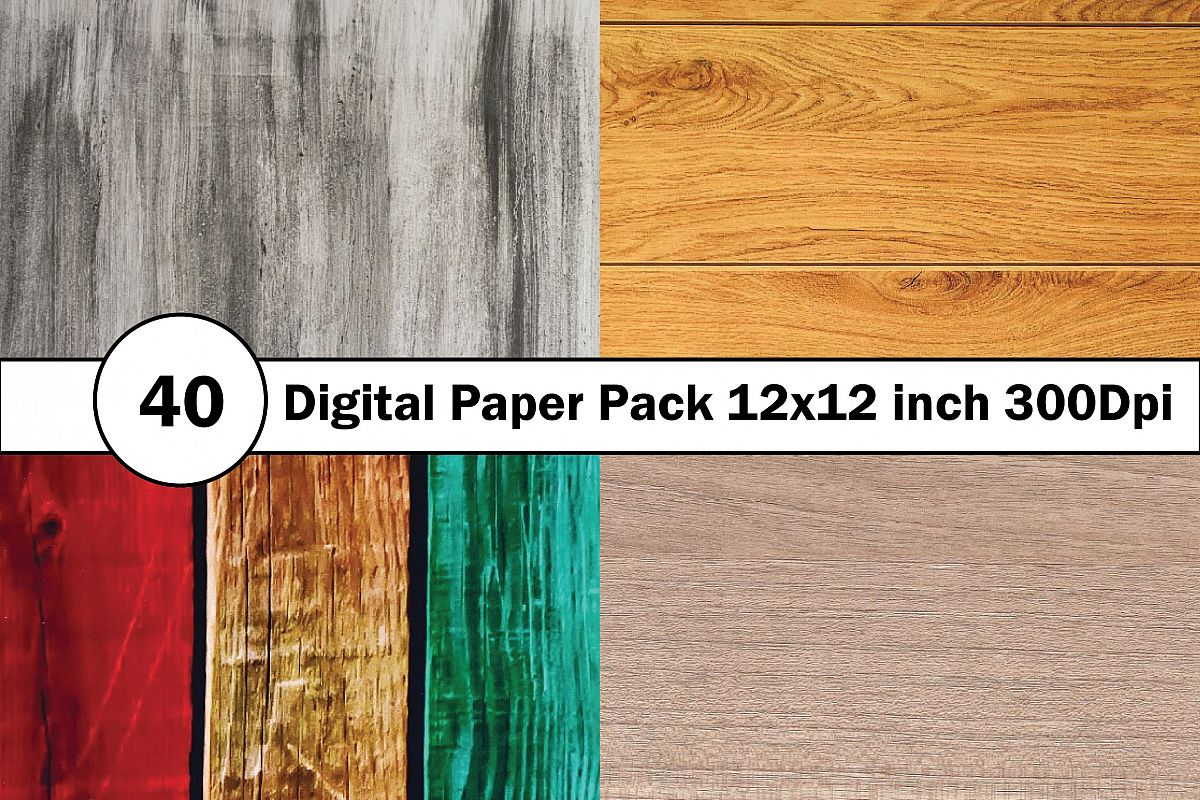 40 Digital Paper Pack 12x12 inch 300 Dpi example image 1