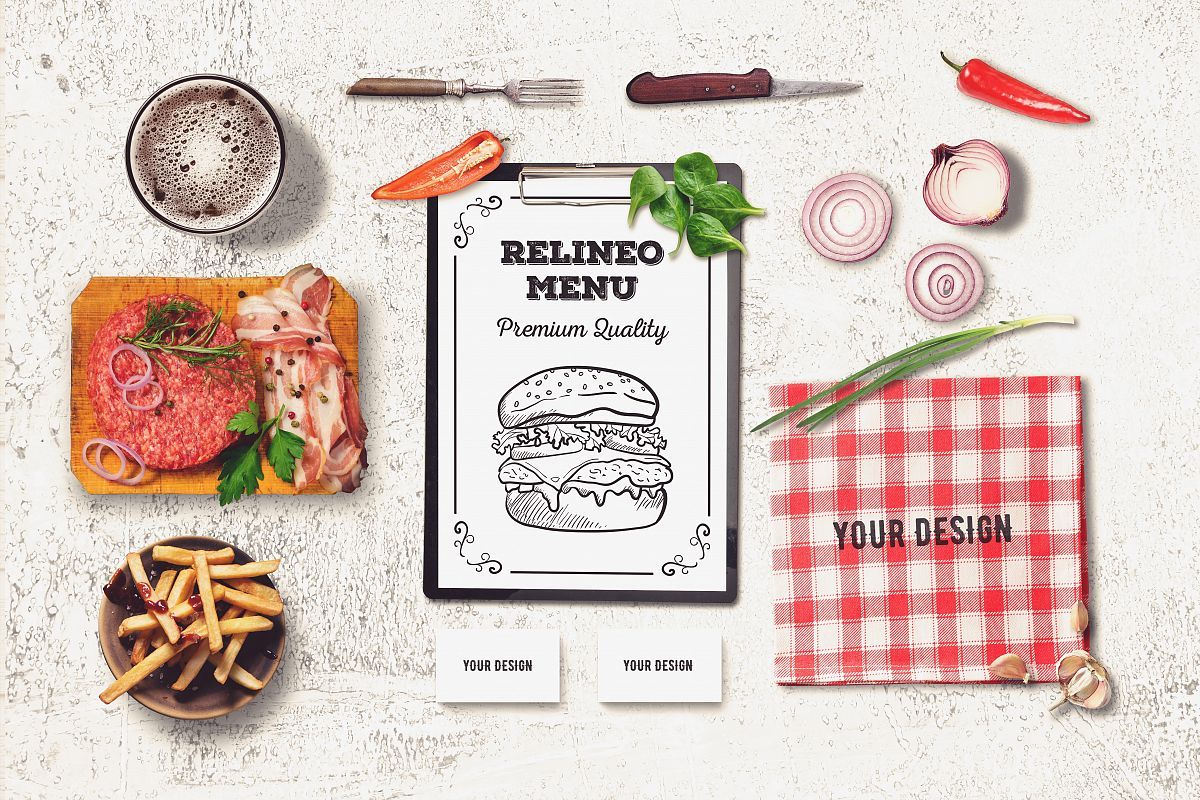 Restaurant Branding Mock-up #3 example image 1