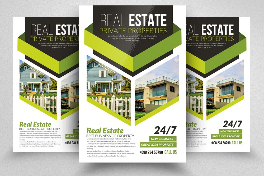 Real Estate Editable Flyer Template