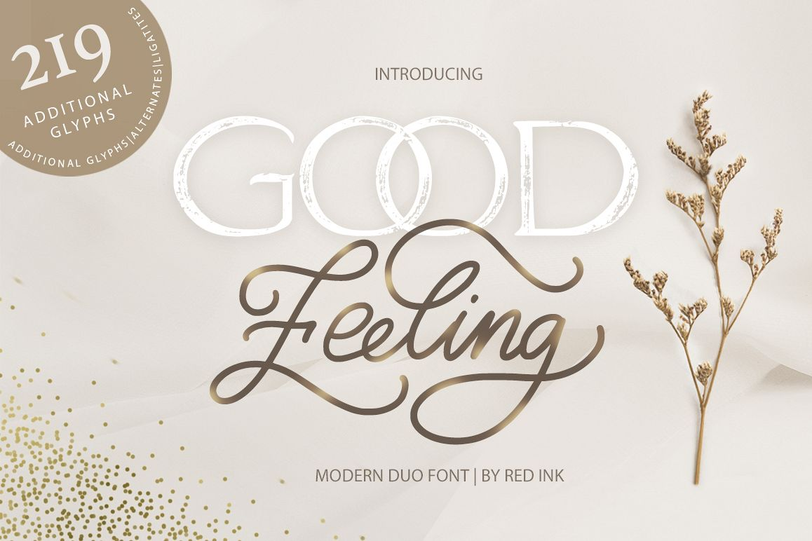 Good Feeling. Modern DUO Font. example image 1