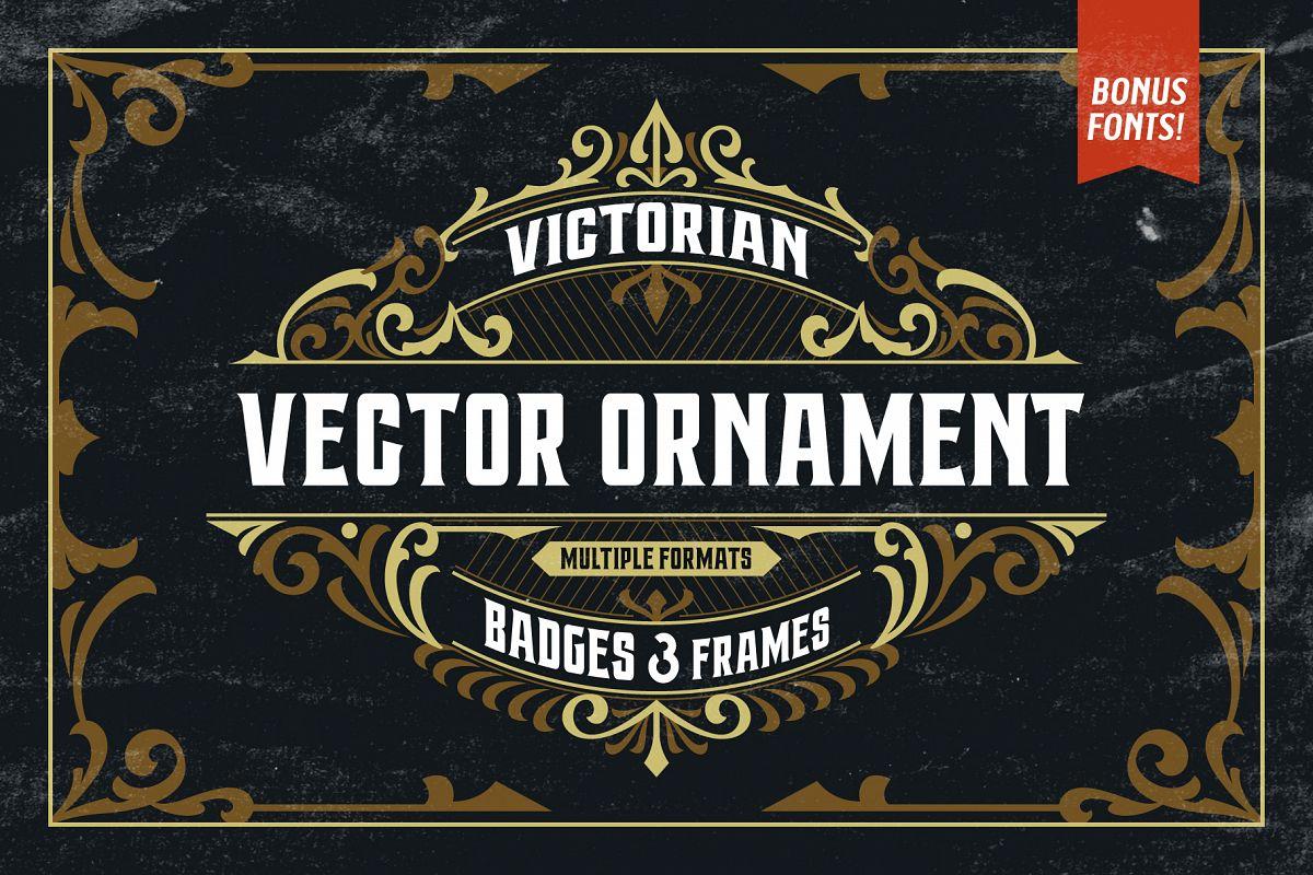 Victorian Ornaments Vector Bonus example image 1