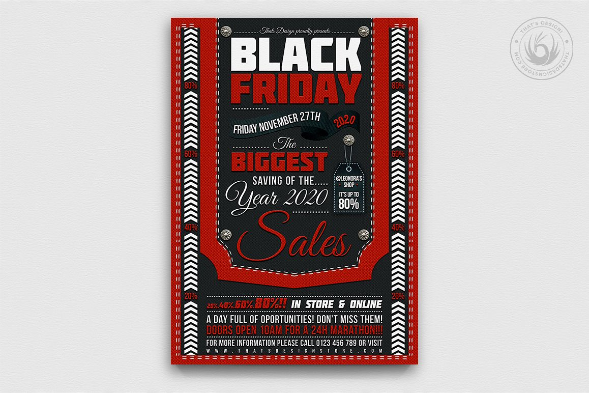 Black Friday Flyer Template example image 1