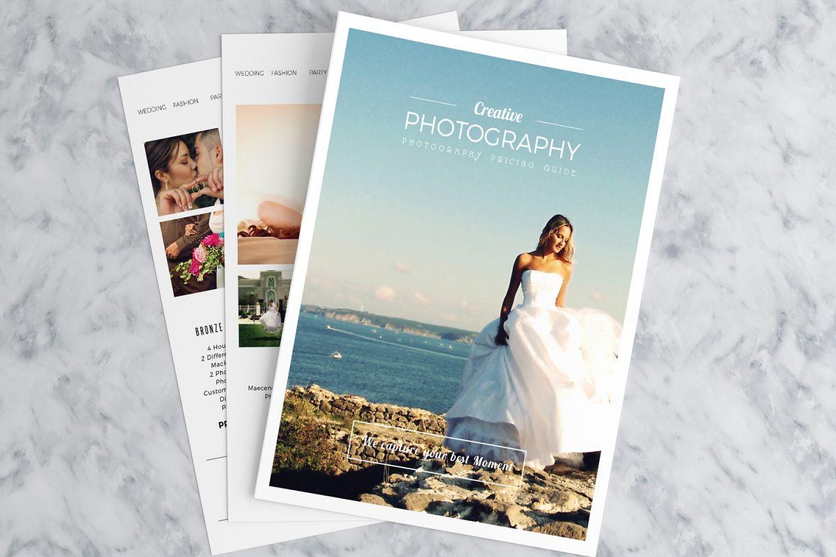 Minimal Photography Price List Template