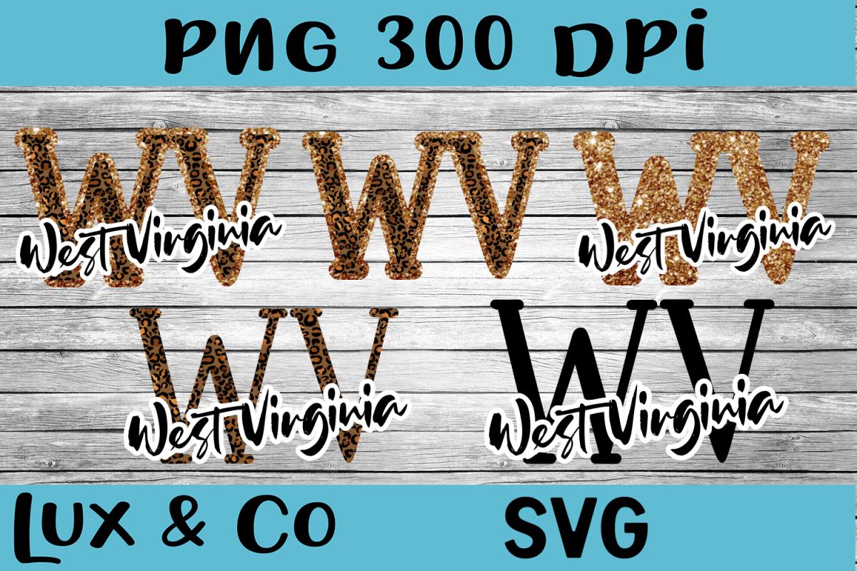 West Virginia WV State Leopard Bundle example image 1