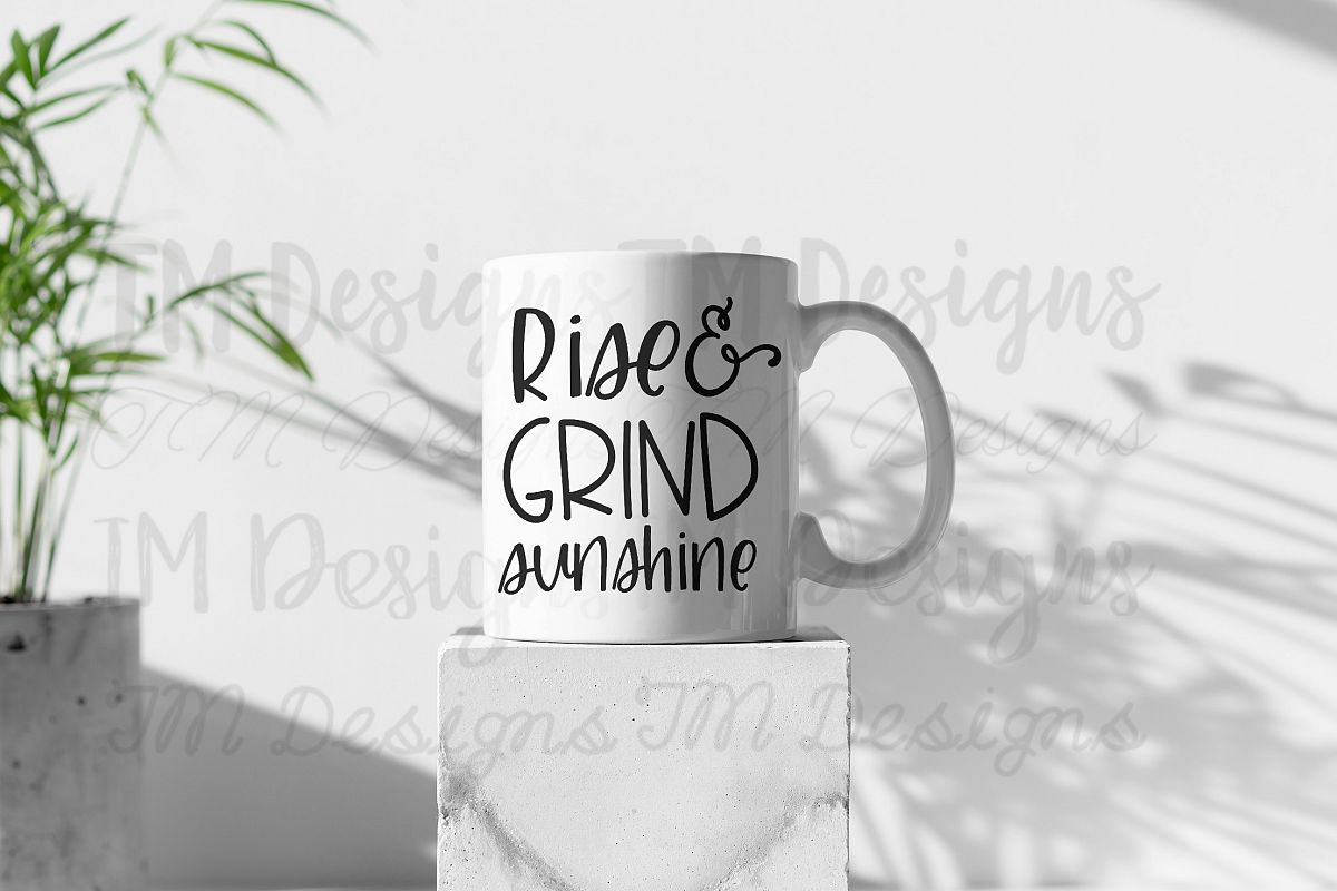 Rise and Grind Sunshine SVG example image 1