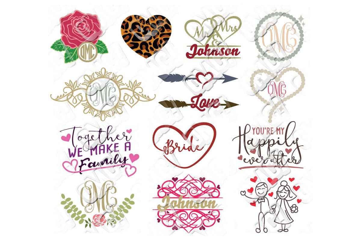 Wedding SVG Bundle example image 1