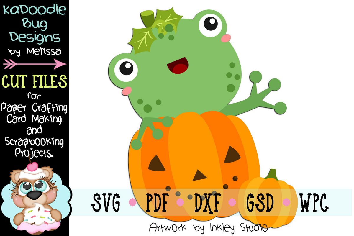 Halloween Pumpkin Frog Cut File - SVG PDF DXF GSD WPC example image 1